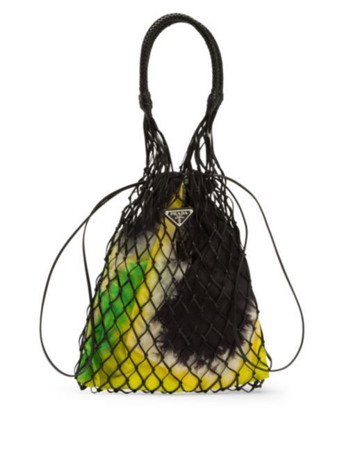 Prada Netted Top Handle Bag