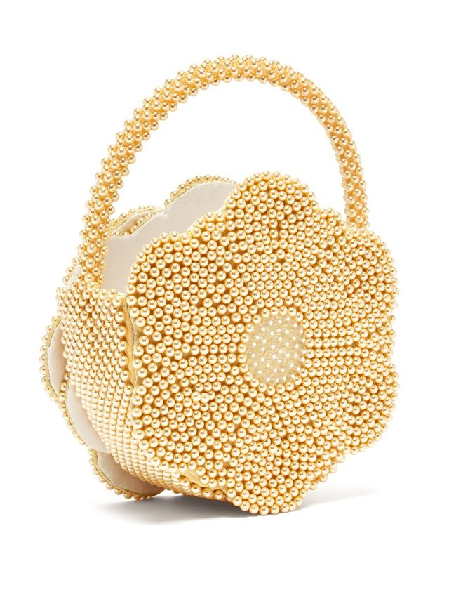Shrimps Buttercup Faux-Pearl Embellished Bag