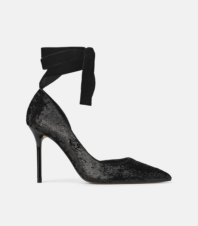 Zara Shiny Effect High Heel Shoes