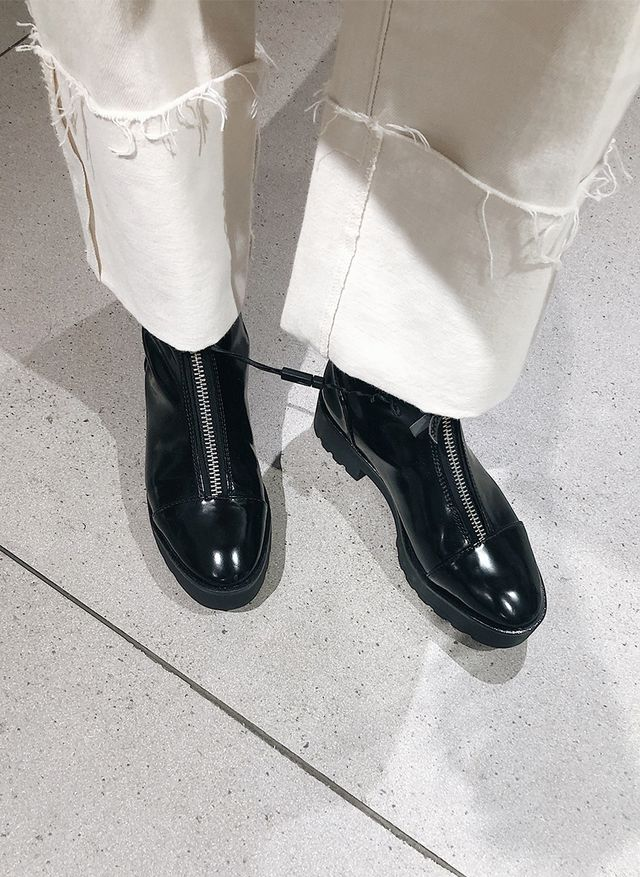 best shoe styles at Zara: zip-up boots