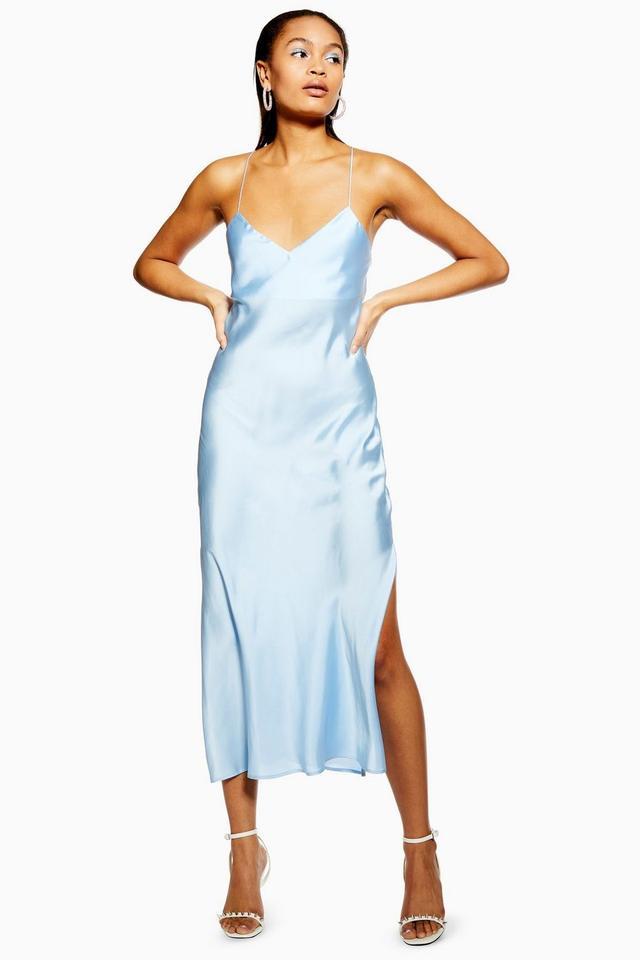 Topshop Satin Cowl Back Slip Dress