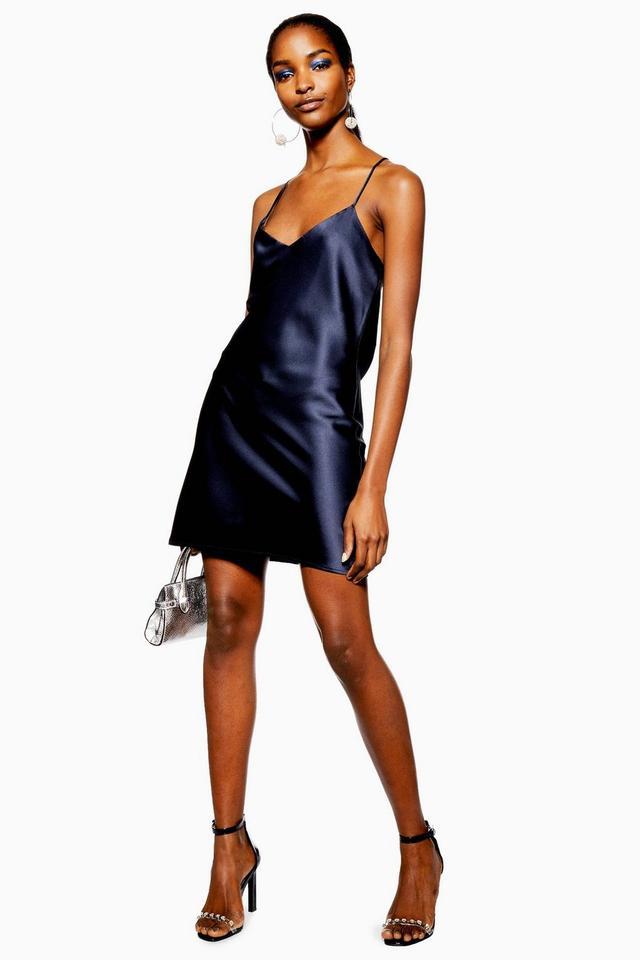 Topshop Satin Slip Mini Dress