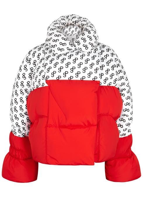 Saks Potts Star Logo-Print Quilted Shell Jacket