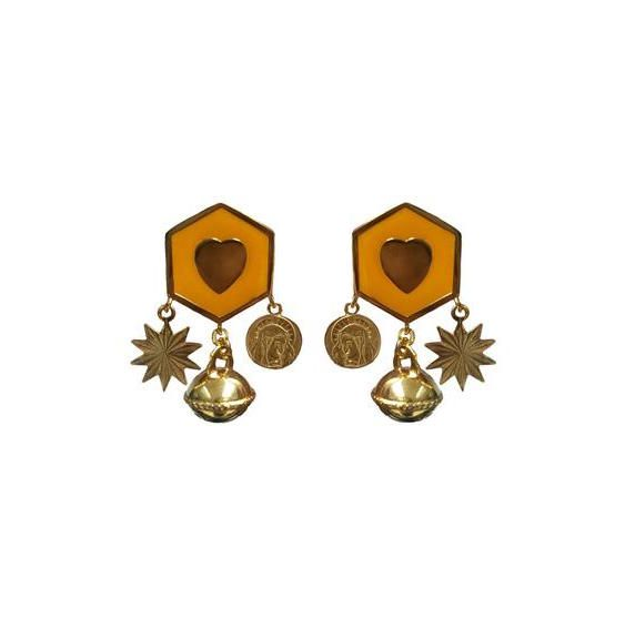 Becca Jewellery Hexagon Charm Earrings