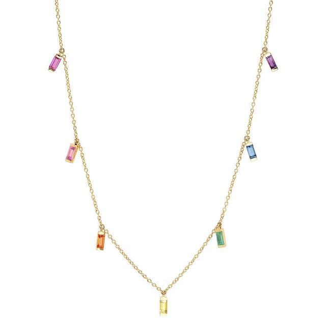 Eriness Rainbow Baguette Necklace