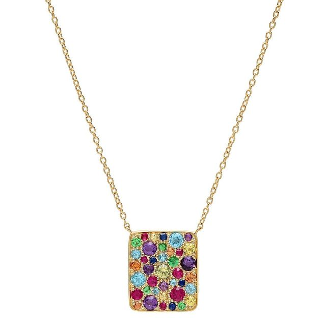 Eriness Multi Colored Cluster Necklace