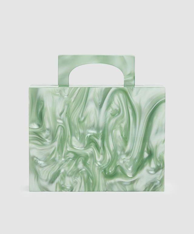 Valet Studio Alexa Resin Bag in Green