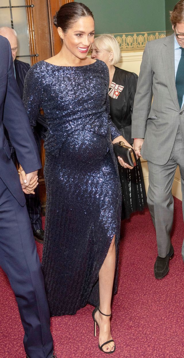 Meghan Markle Wearing a Sparkling Blue Dress