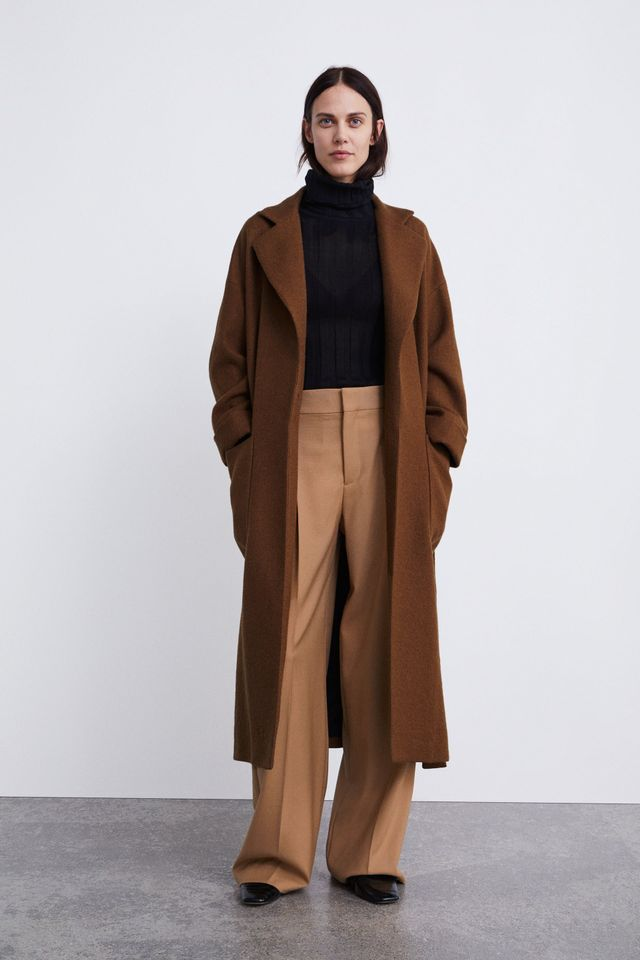 Zara Belted Double-Breasted Coat
