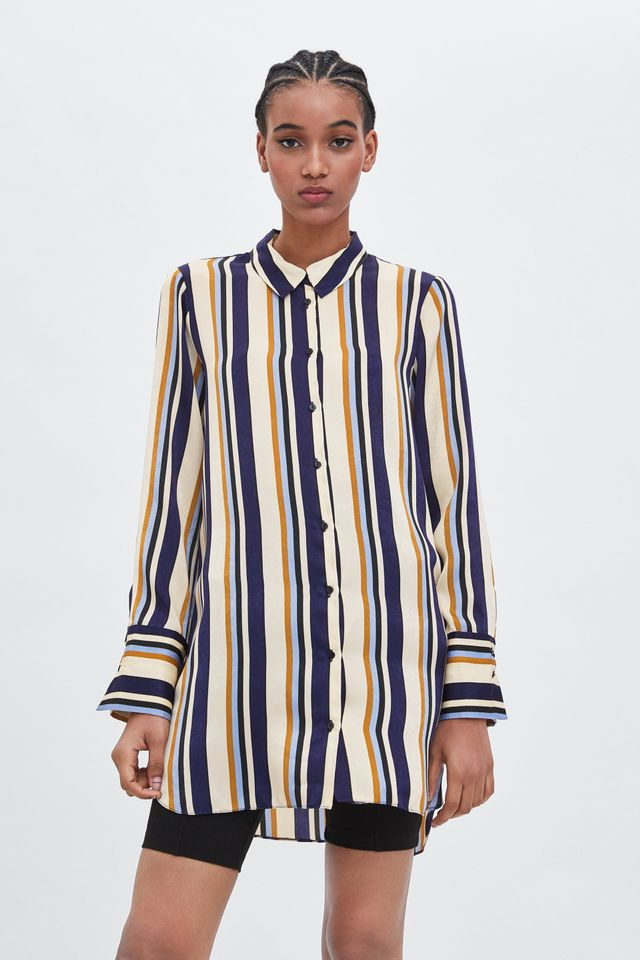 Zara Long Striped Top