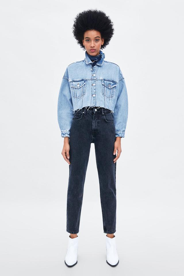 Zara Authentic Denim Mom Fit Jeans