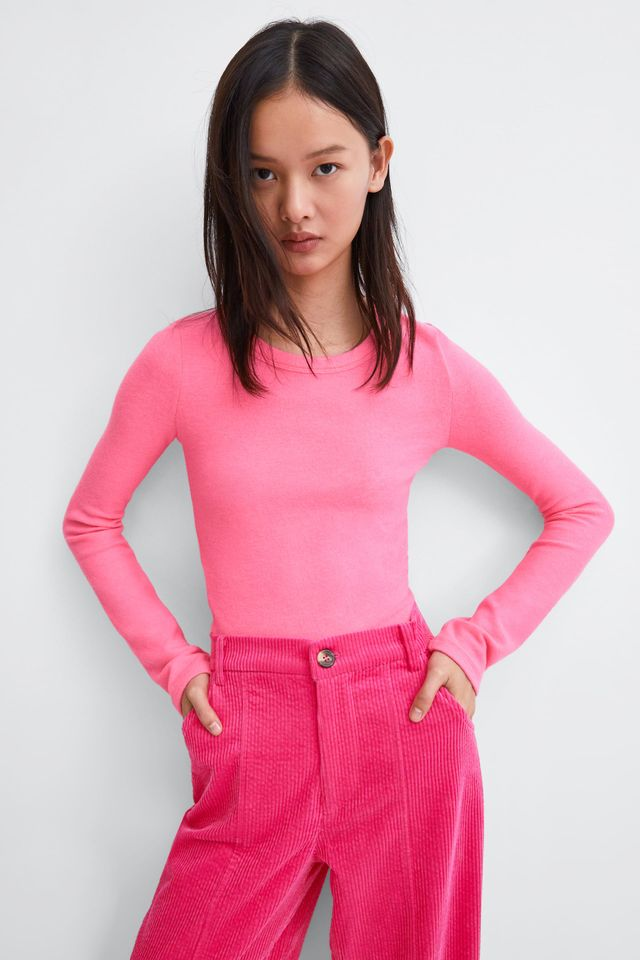 Zara Cropped Soft-Touch Top