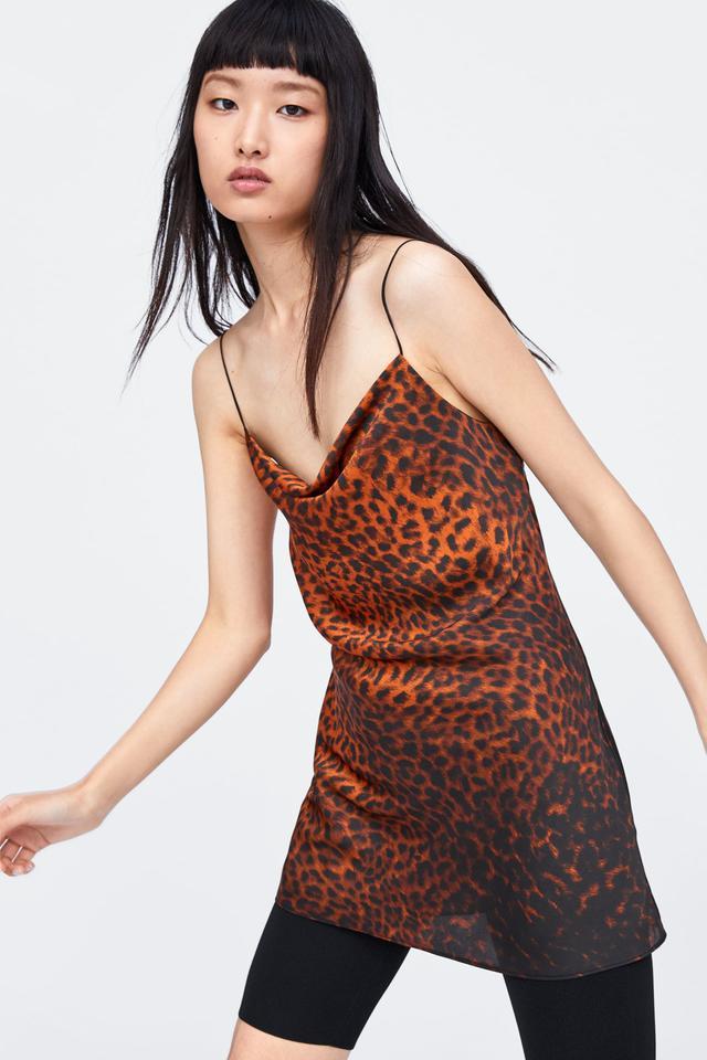 Zara Animal Print Short Dress