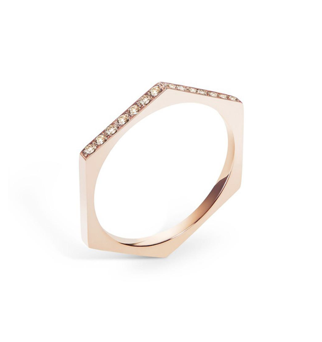 Selin Kent Hex Band with Champagne Diamonds