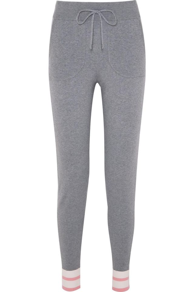 Equipment Elsie Striped Stretch-Knit Track Pants