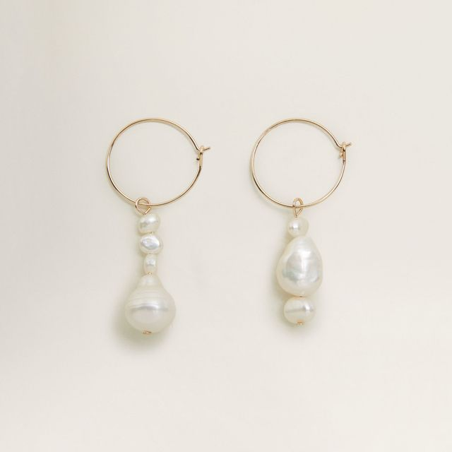Mango Natural Pearl Earrings