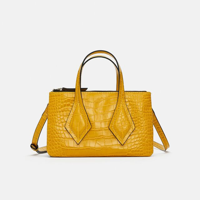 Zara Embossed Mini Tote Bag