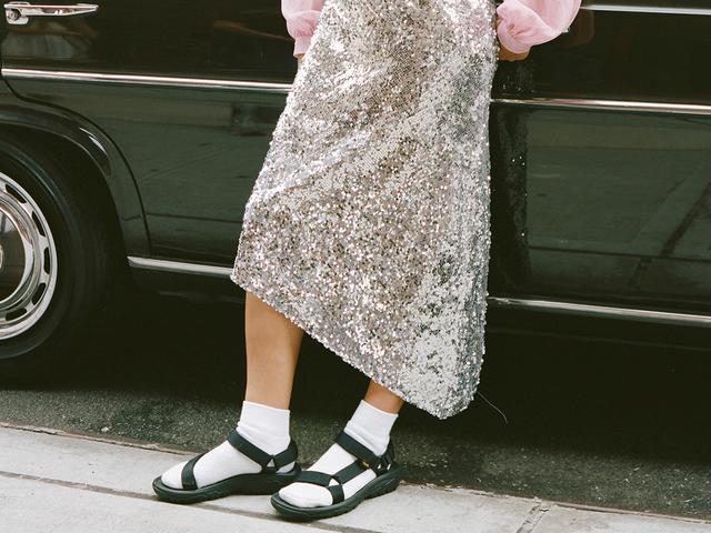 Chunky-sandal trend: Sandy Liang