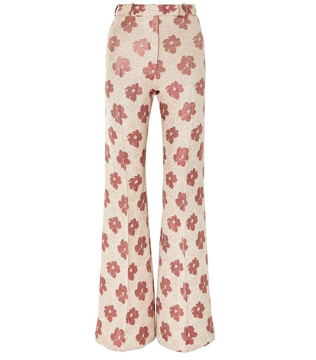 Golden Goose Deluxe Brand Carrie Floral-Jacquard Wide-Leg Pants
