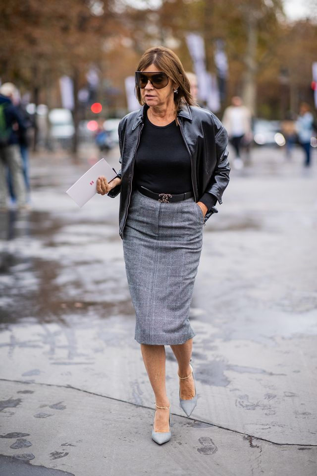 French-editor wardrobe capsule: polished pencil skirts