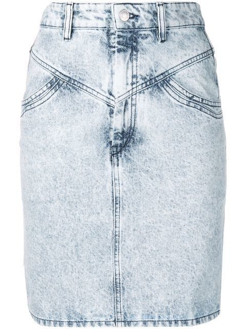Isabel Marant High Waisted Denim Skirt