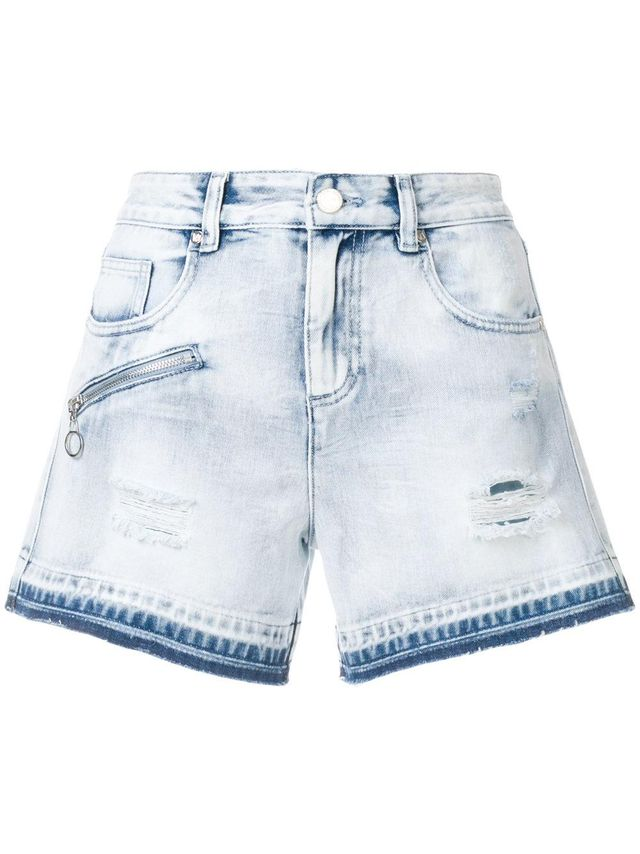 Versace Jeans Washed Denim Shorts