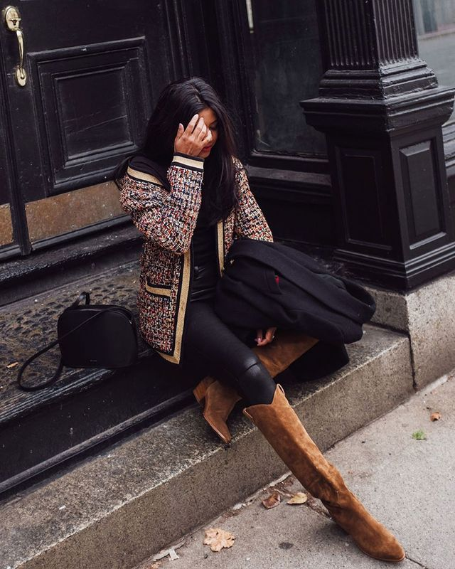Knee-High Boots and Skinny Jeans: Western Trend