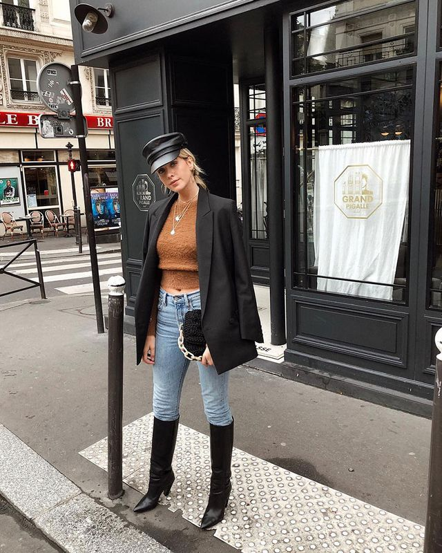 Knee-High Boots and Skinny Jeans: Blazer