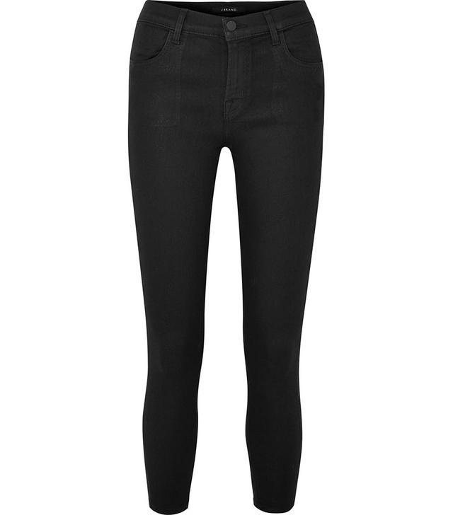 J Brand Alana Coated High-Rise Jeans