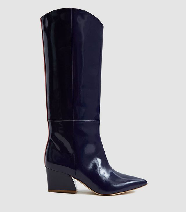 Tibi Logan Western Tall Boot in Violet