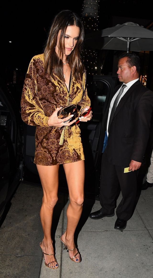 Alessandra Ambrosio night-out outfit
