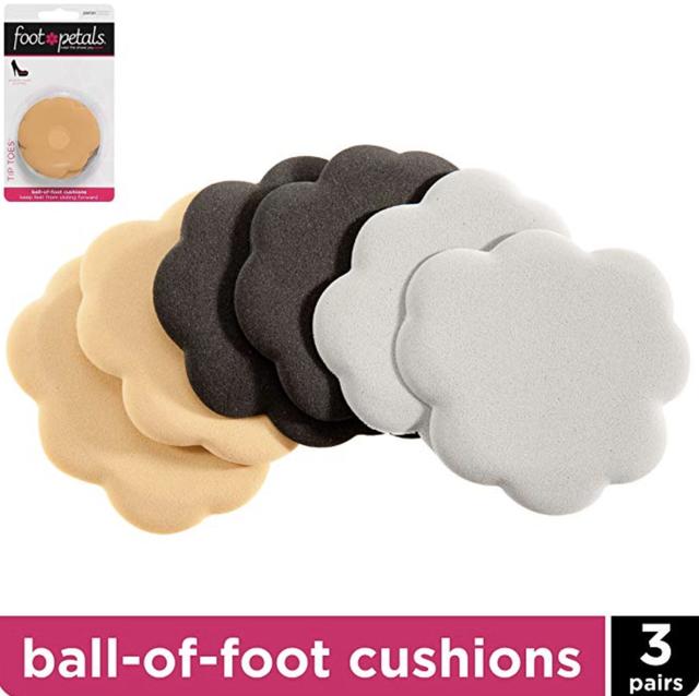 Foot Petals Tip Toes Ball of Foot Triple Pack-W