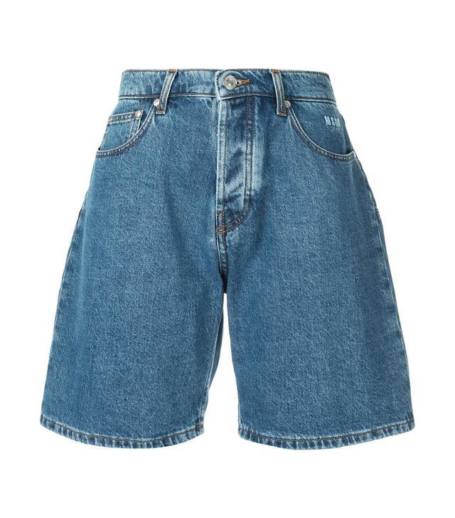 MSGM Denim Bermuda Shorts