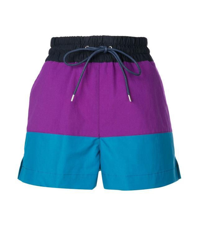 Sacai Colour Block Shorts