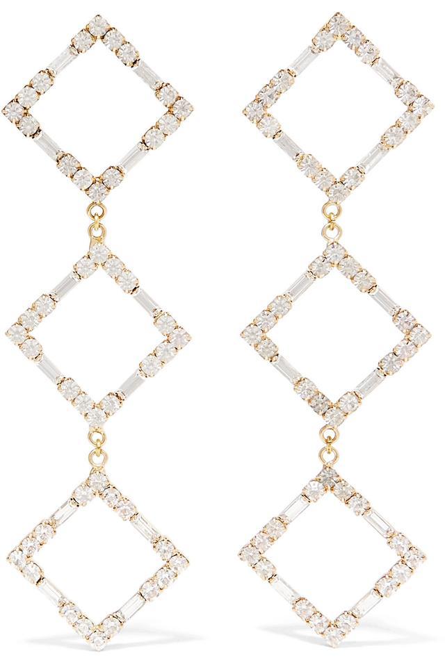 Rosantica Luci Gold-Tone Crystal Earrings