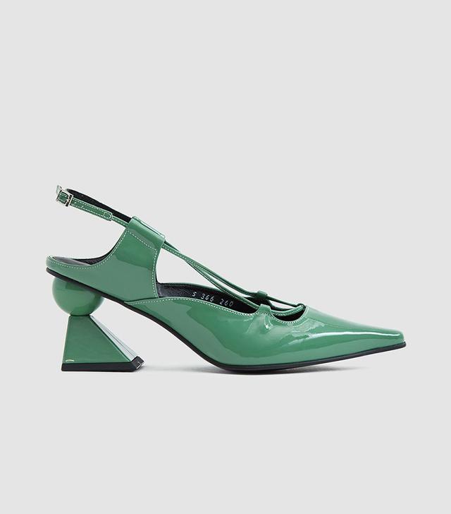 Yuul Yie Coy Heeled Sandal in Jade