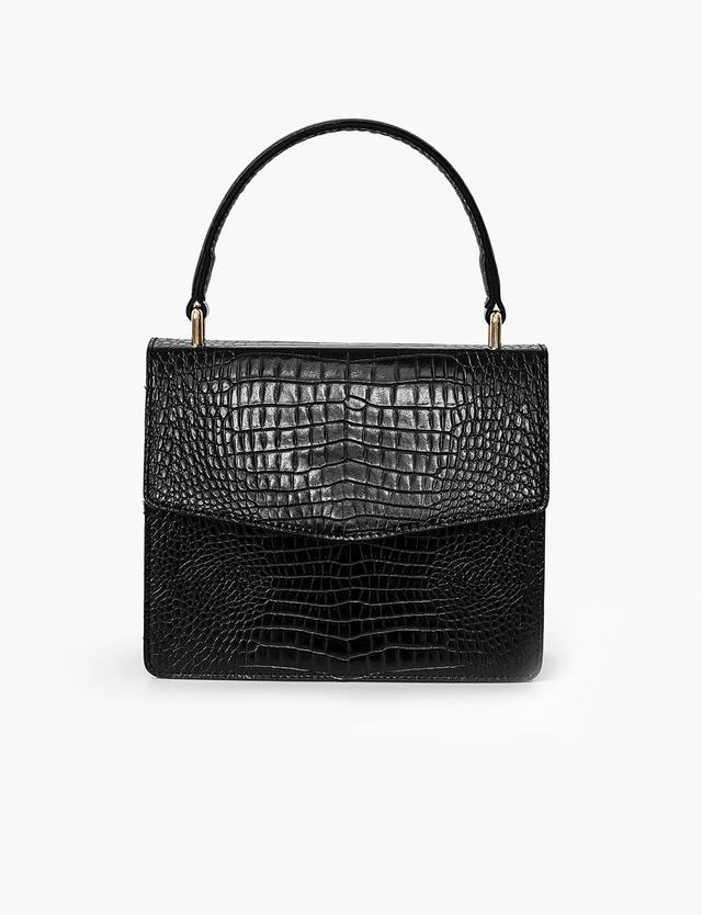 Pixie Market Black Croc Mini Bag
