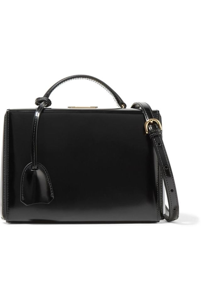 Mark Cross Grace Small Glossed-Leather Bag