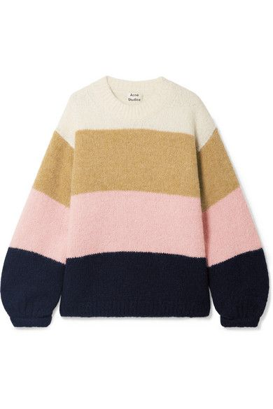 Acne Studios Kazia Oversize Striped Knitted Sweater