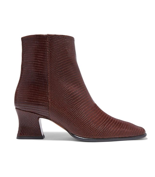 By Far Naomi Lizard-Effect Leather Boots