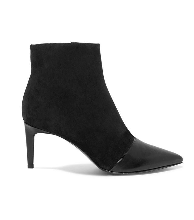 Rag & Bone Beha Paneled Leather and Suede Ankle Boots