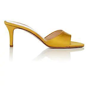 Barneys New York Satin Mules in Yellow