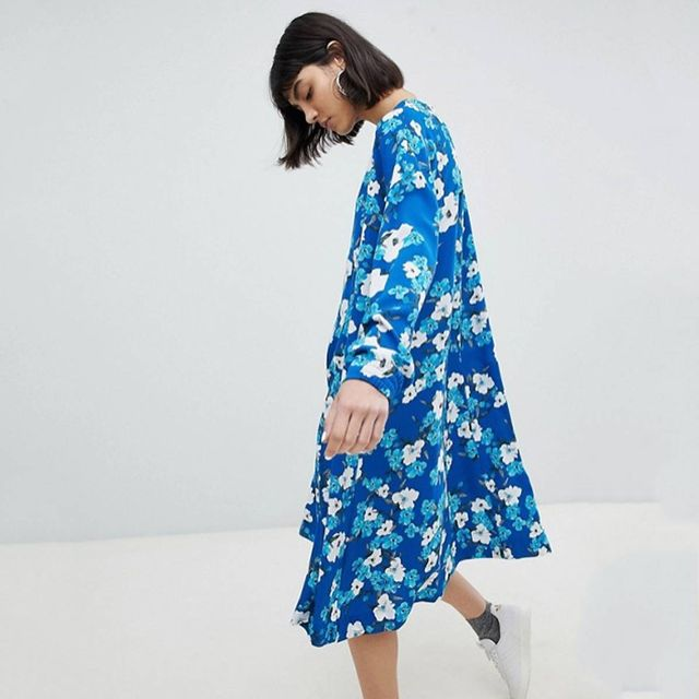 Weekday Trapeze Dress in Floral Print