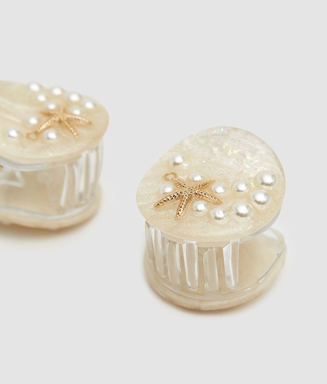 Valet Studio Ariel Hair Clip Set in Cream