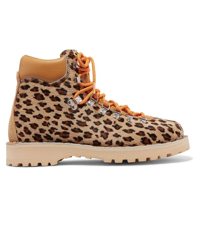 Diemme Roccia Vet Leopard-Print Calf Hair Ankle Boots