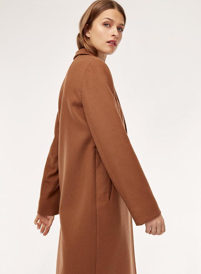 Aritiza Stedman Wool Coat in Habano