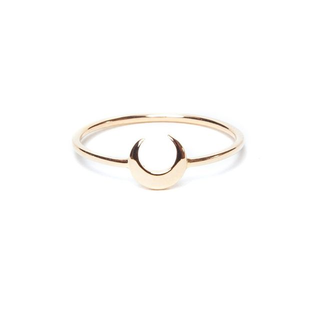 I and I Jewelry Cresent Moon Ring