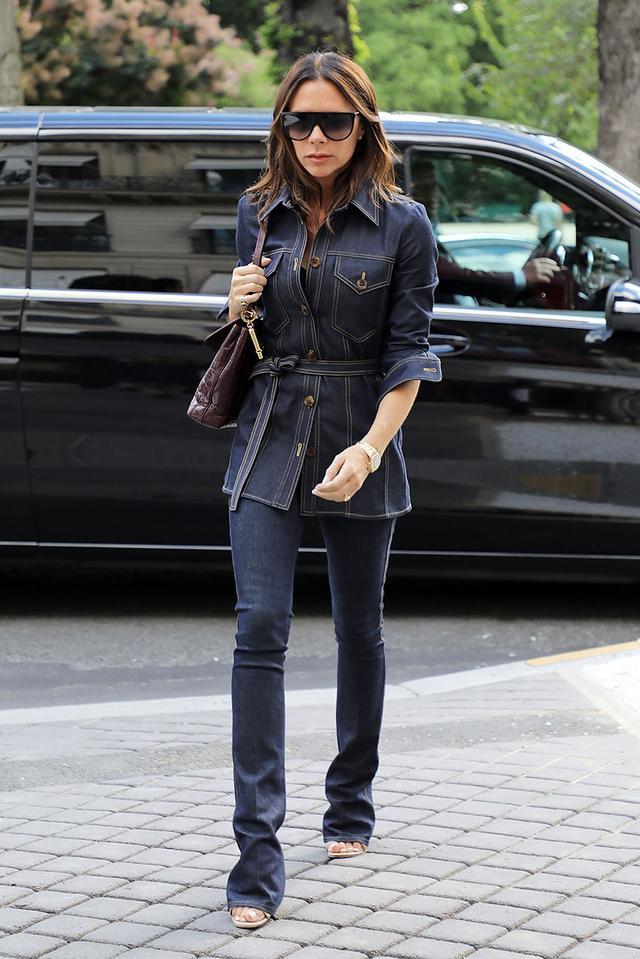 Victoria Beckham Jean Outfits: Denim Jacket