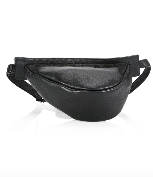 The Row Small Leather Slouchy Convertible Banana Bag
