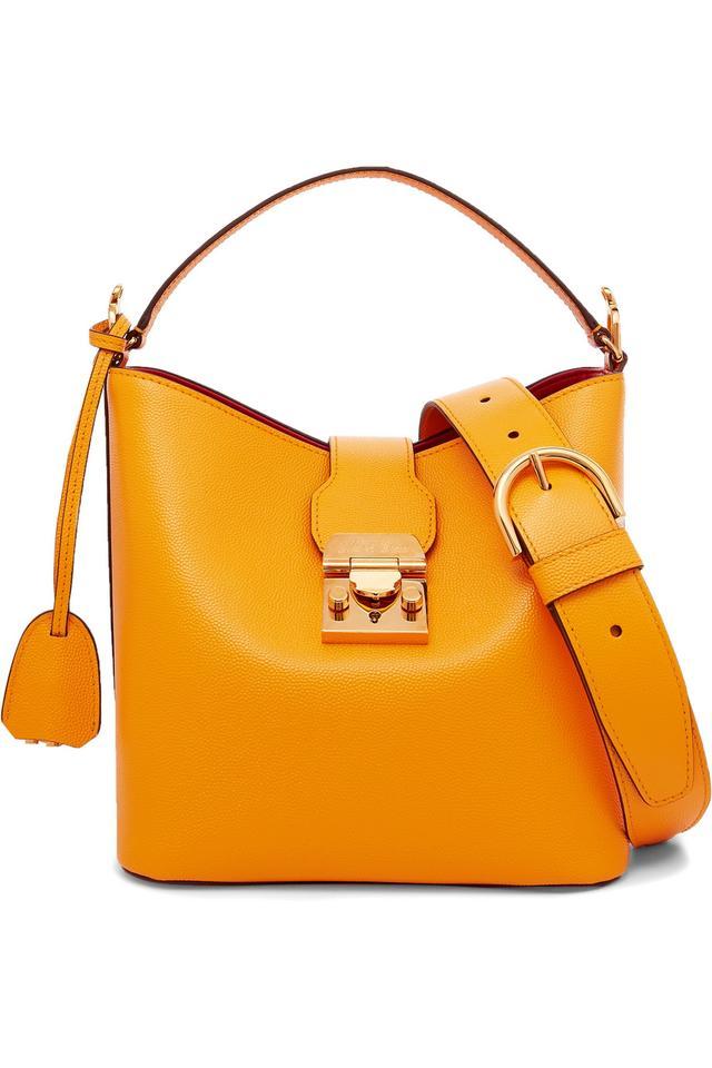 Mark Cross Murphy Small Textured-Leather Shoulder Bag